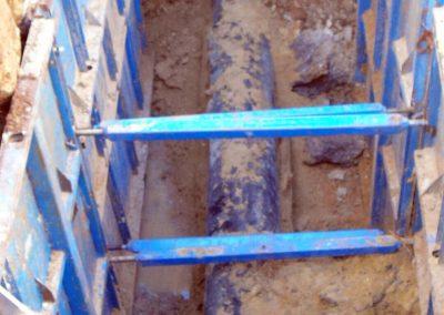 Obra civil para sustitución de tuberías