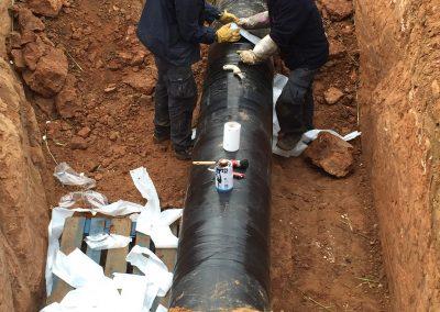 Reparación de gasoducto